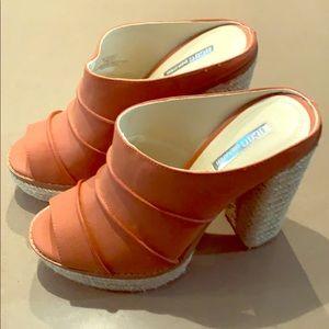 *NEVER WORN* BCBG Burnt Orange Heels